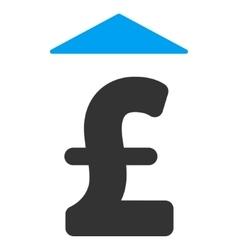 Pound Up Flat Icon Symbol vector image