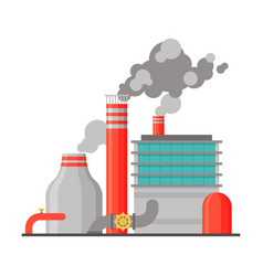 Power refinery plant industrial building vector