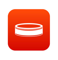 Puck icon digital red vector
