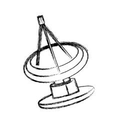 Radar satellite dish communication antenna signal vector