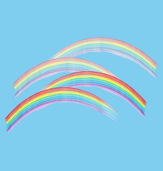 rainbow on sky sign vector image