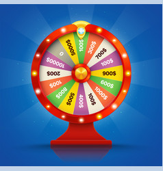 realistic retro spinning wheel of fortune or luck vector image