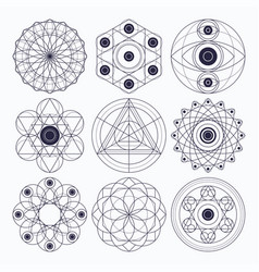 sacred geometry design elements vector image