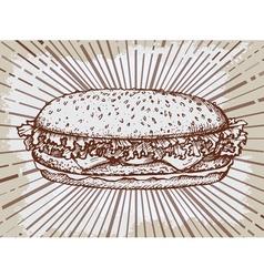 Sketch hamburger or burger logo design template vector
