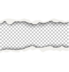 snatched hole with torn edges in white sheet vector image