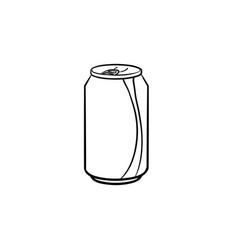soda pop can hand drawn sketch icon vector image