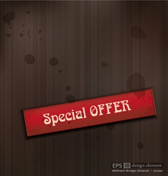 Special OFFER vintage business background vector image