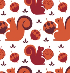 Squirrel seamless background vector