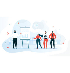 successful business project stats flat vector image