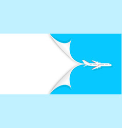 travel and tourism background concept airplane vector image