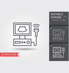 ultrasound scanner linear medical symbols vector image