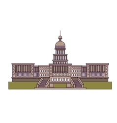 united states capitol isolated icon design vector image