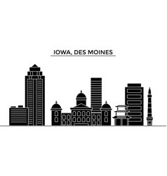 Usa iowa des moines architecture city vector