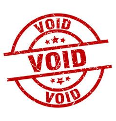 Void round red grunge stamp vector