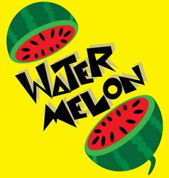 Water Melon Wallpaper vector