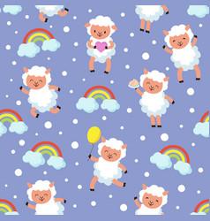White lamb small sheep basweet dream vector