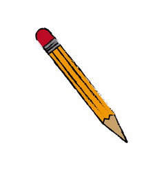 Wooden pencil idea creativity supply school vector