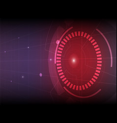 abstract red purple digital technology background vector image vector image