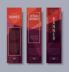 banner polygon template vertical 01-16 vector image vector image