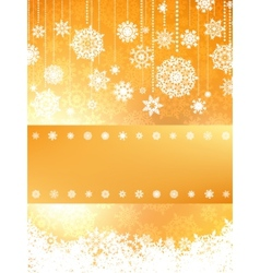 Christmas card in orange color EPS 8 vector image vector image