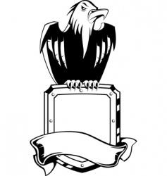 eagle shield emblem vector image