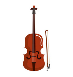fiddle instrument isolated icon vector image vector image