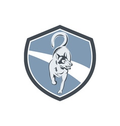 Husky Dog Crest Retro vector image vector image