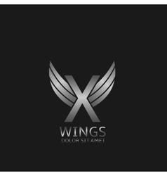 X Letter logo vector image vector image