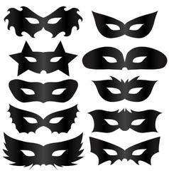 Black Masks vector image