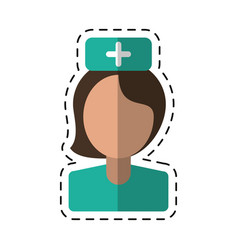 cartoon nurse staff medical hospital vector image