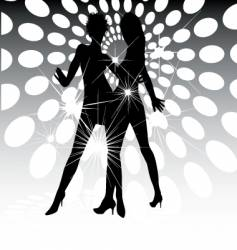 dance floor lights vector image