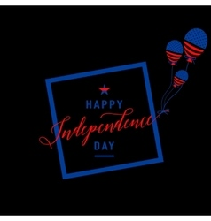 Fourth of July background Felicitation cool fun vector image