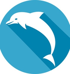 Dolphin Icon vector image vector image