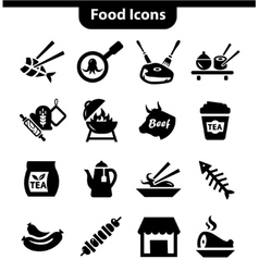 meat icons set vector image vector image