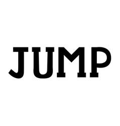 modern brush inscription jump vector image