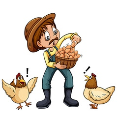 A farmer vector image