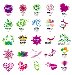 Collection of logos for beauty salons vector