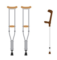 Crutches icon set vector image vector image