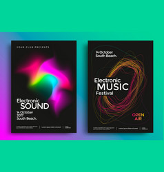 electronic music festival poster vector image