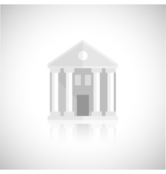 Museum building icon vector image