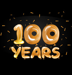 100th golden anniversary logo vector