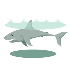 a large gray cartoon shark with vector image