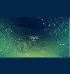 abstract background polygonal bright green vector image