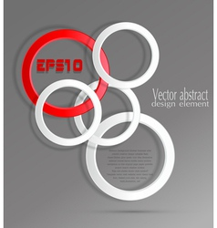 Abstract geometric background with 3d circles vector