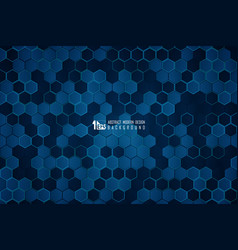 Abstract technology blue hexagonal geometric vector