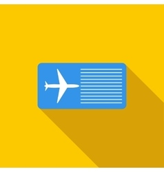Airline ticket icon flat style vector