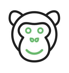 Ape face vector