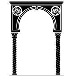 arch in the arabic style vector image