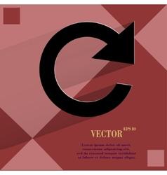 arrow Update Flat modern web design on a flat vector image