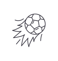 ball goal line icon concept ball goal vector image